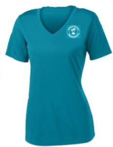 female-vneck-tshirt-logo