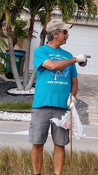 Clean Up Day - Member working