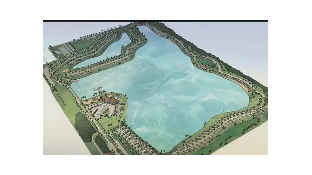 Picture of aerial view concept plan for Myriad RV Park Site