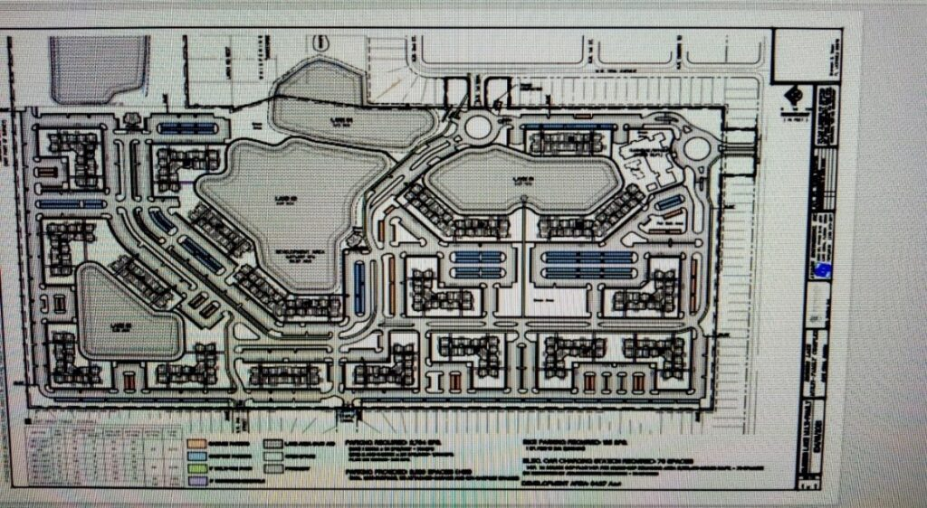 Over plan of Embers Lakes project