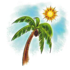 Palm Tree with Sun