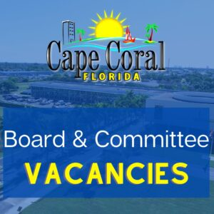 Sign showing City of Cape Coral Vacancies