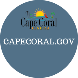 sign showing City of Cape Coral Fl logo