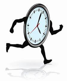 cartoon Clock Running